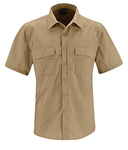 Propper Men's REVTAC ShirtShort Sleeve Shirt, Khaki,