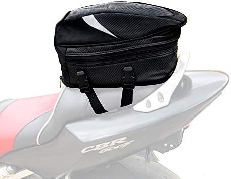 JFG RACING wasserdichte multifunktionale Gepäcktasche/Sitztasche fürs Motorrad, aus PU-Leder, Aufbewahrung für Motorradhelm und anderes, 18,5 Liter