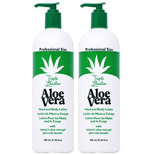 - Triple Lanolin Aloe 20 Ounce Hand & Body Lotion Pump (591ml) (2 Pack)