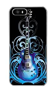 Iphone 5S Case Blue Guitar Clear PC Hard Case For Apple Iphone 5S