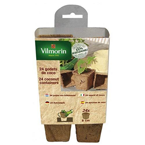 Vilmorin - 24 godets coco carrés 8 cm Vilmorin