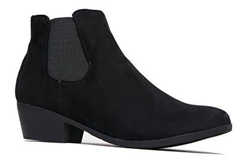 Alton Western Ankle Bootie, Black IMSU, 8.5 B(M) US by ZooShoo (Image #1)