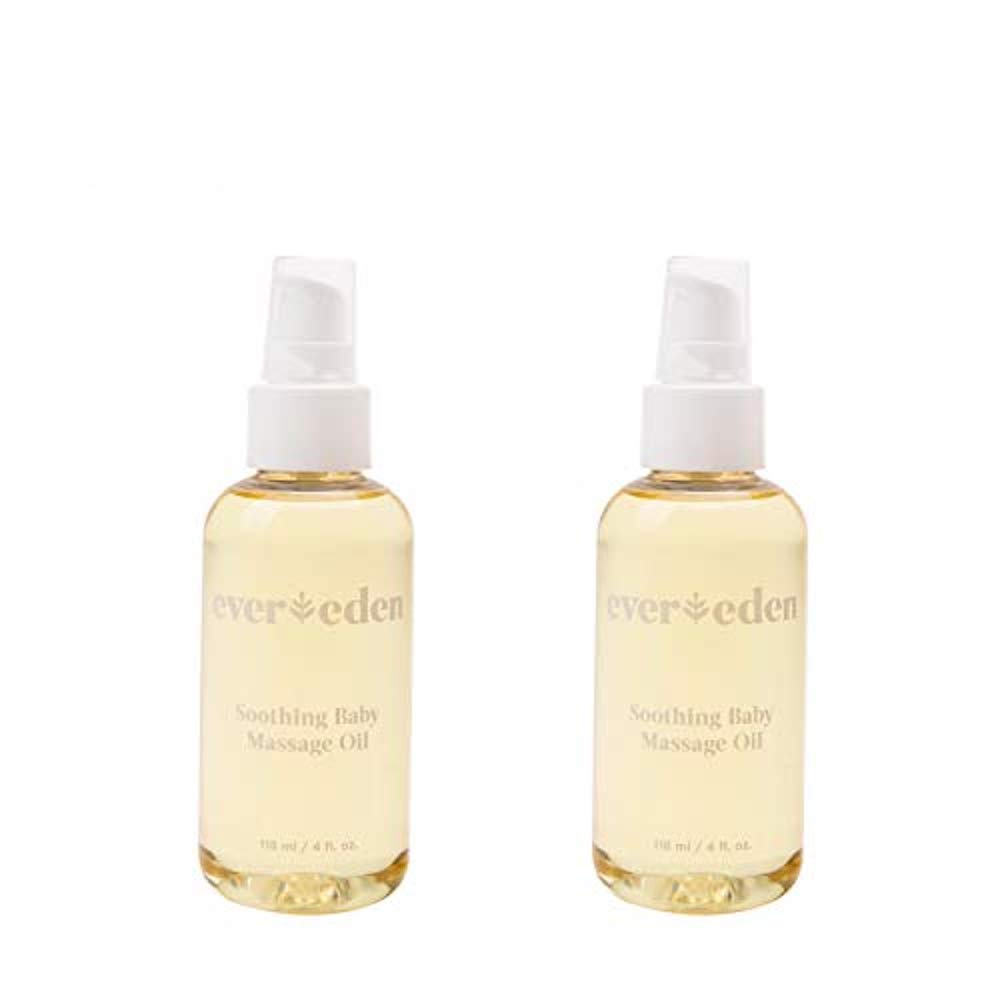 Evereden Soothing Organic Baby Oil - Natural Baby Oil & Bath Oil for Dry Skin Care and Cradle Cap, Fragrance Free Skin Oil with Avocado Oil and Sunflower Oil for Baby Care & Eczema Relief (2 Pack) by Evereden