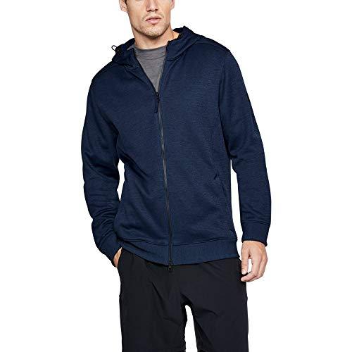 Under Armour Sportstyle Sweater Fleece Full Zip Jacket, Academy /Steel, X-Large