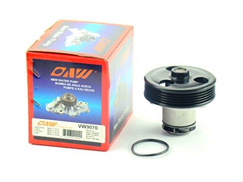 OAW VW9070 Engine Water Pump for Volkswagen Beetle Golf Jetta Passat Rabbit 2.5L 2005 - 2014 (Golf Volkswagen Water)