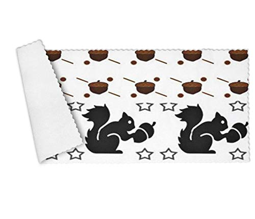 YUEch Kitchen Towels Set of 3 Squirrel & Nut Pattern Pack Poster Highly Absorbent Low Lint Multi-Purpose Dish Towels, Tea Towels, Bar Towels 12 x 27 Inch