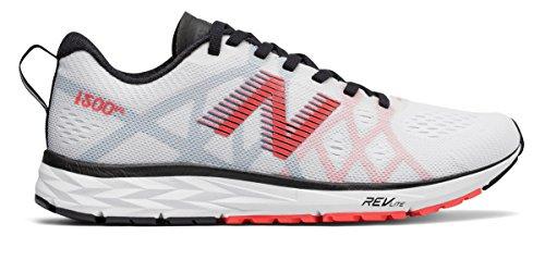 ピストン避難等々(ニューバランス) New Balance 靴?シューズ レディースランニング 1500v4 White with Red and Black ホワイト レッド ブラック US 7.5 (24.5cm)