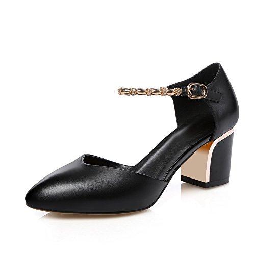 Solid ASL05176 Dress Black Cold Lining BalaMasa Urethane Sandals Womens RwZ0II
