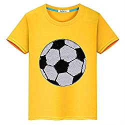 Flip Sequin Football Cotton T-Shirt