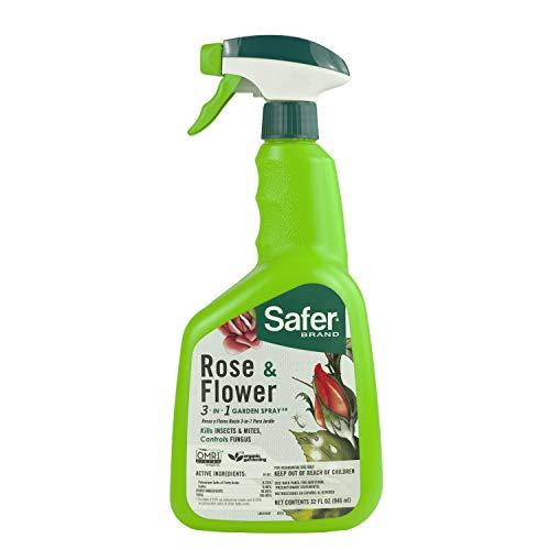 Safer Brand 5454 Rose & Flower 3-in-1 Garden Spray - 32 oz, Green