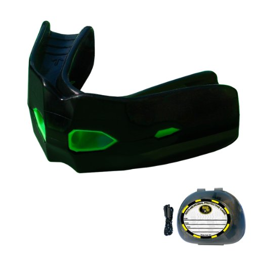 Brain-Pad Adult Tactical Training Mouth Guard, Black/Green by Brain Pad