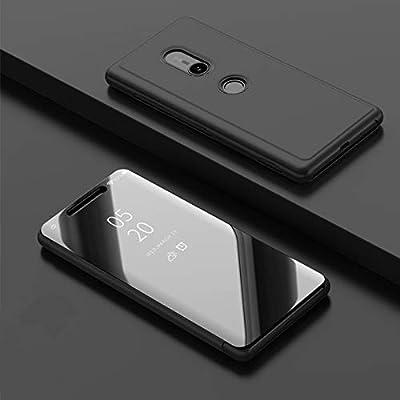 Funda® Espejo Enchapado Flip Sony Xperia XZ3 (Negro): Amazon.es ...