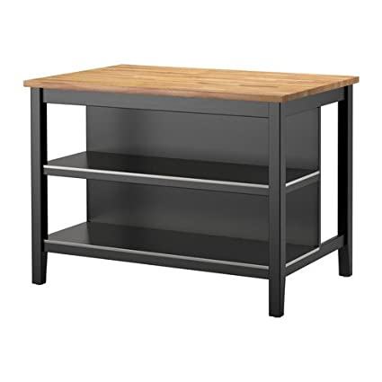 ikea stenstorp kitchen island black brown oak - Kitchen Islands Ikea