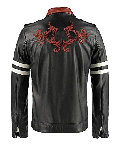 (Spazeup Alex Mercer Prototype Black Mens Leather Jacket)