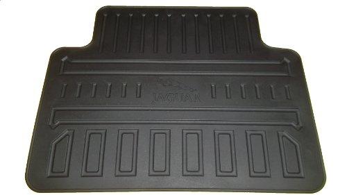 Jaguar OEM Rear Seat Black All Weather (Rubber) Floor Mats by Jaguar