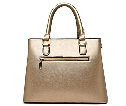 cerniera blue Croce a Shopping sub multifunzionale tracolla pelle borsa a borsa in Borsa madre Shopping NVBAO Diagonale signora borsa Chiusura gold della H6RaAq
