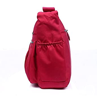Nylon Messenger Handbags Multi Pocket Water Resistant Lightweight Crossbody Bags