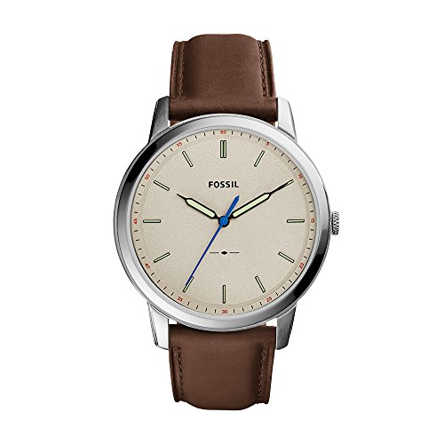 Fossil Men's FS5306 The Minimalist Three-Hand Brown Leather Watch