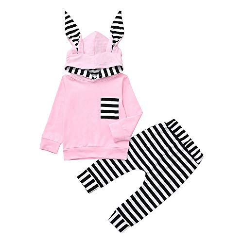 Camo Bunny (For Toddler Infant Baby 3D Bunny Ear Striped Hooded T shirt Tops+Pants,Kids Pajamas Romper Jumpsuit Set (Pink, 24M))