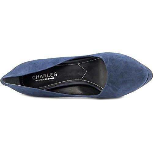 Charles Di Charles David Flip Women Us 8 Blue Platform Heel
