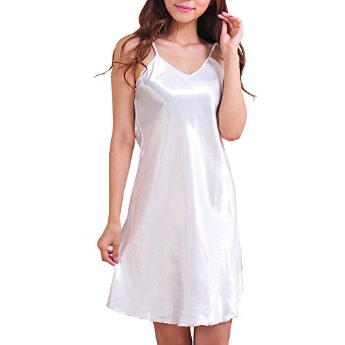 iBaste - Camisola - Sin mangas - para mujer Blanco
