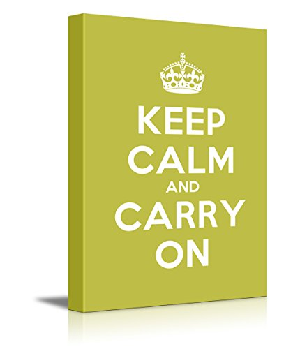 Keep Calm and Carry On Stretched Grass Green