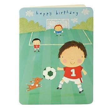 Alles Gute Zum Geburtstag Fussball Jungen Grusskarte Amazon De