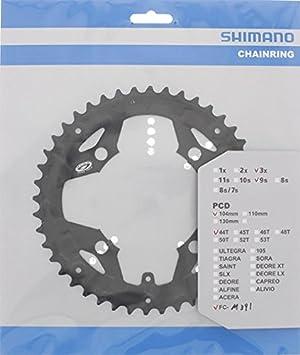 Shimano Y-1ME98050 - Rueda dentada para bicicleta, 44 dientes, compatible con protector FC-M391: Amazon.es: Deportes y aire libre