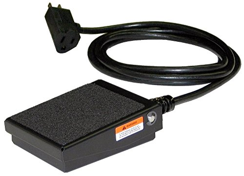 Variable Foot Pedal - SSC Controls S100-1501 Foot Switch, Electrical, Momentary Action, Made in USA, 8-ft Cable with Piggyback Plug, Steel Billy Pedal, On/Off