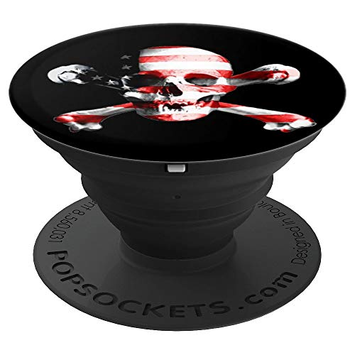 Pirate Skull Pop Up Cellphone Holder Handle,American Flag - PopSockets Grip and Stand for Phones and Tablets
