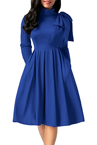 embellished blue skater dress - 2