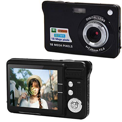 Springdoit 2.7-inch 18-megapixel Digital Camera Advanced self-Timer Shooting Digital Video Digital Camera Outdoor - Black