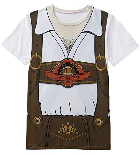 Funny World Men's Bavarian Oktoberfest Costume T-Shirts (XXL, -