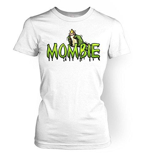 Mombie Womens T-shirt - White Medium (UK Size 10)]()