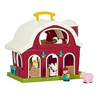 Battat - Big Red Barn - Animal Farm Playset for Toddlers 18M+ (6Piece)