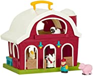 Battat BT2626C1Z – Big Red Barn – Animal Farm Playset for Toddlers 18M+ (6Piece), Dark Red, 13.5