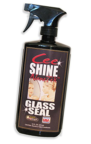 Your Auto & Home Glass Cleaner for Months with Water-Repellent CeeShine Automotive and Home Window Spray Polish. Wipes Off, Water-Dirt-Grease-Grime-Mud Even Bird Poop All Just HATE This Stuff!