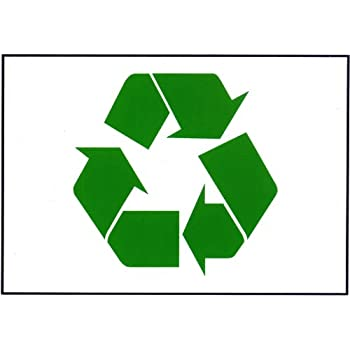 Amazon Green Recycle Symbol Sticker 75 X 1075 In Encourage