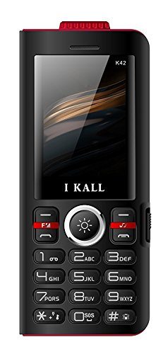 IKALL K42 Power Bank Mobile with 8000 mAh Battery Super Torch Light and Lamp Light Triple Sim Slot  Black