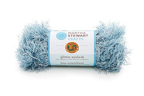 Lion Brand Yarn 5800-506 Martha Stewart Glitter Eyelash Yarn, Blue Topaz