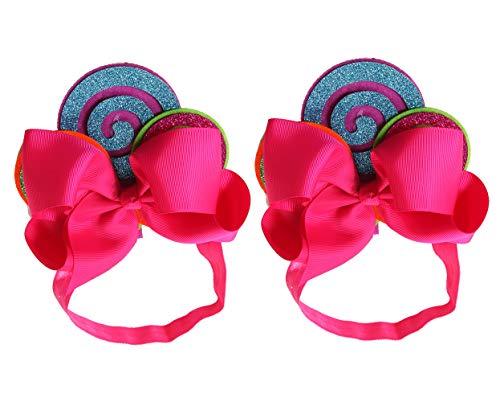 Tutu Dreams Princess Rainbow Candy Headband Birthday Halloween Party 2pcs (2 Candy Rainbow) -