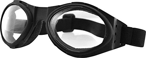 Bobster Unisex Adult Bugeye Goggles with Clear Lens - Sunglasses Bugeye