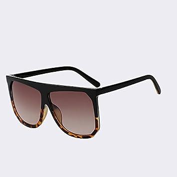 ba0da4a40f TIANLIANG04 Gafas de Sol para Mujer Sombras cuadradas Grandes Vasos diseño  de la Marca Posterior Gafas
