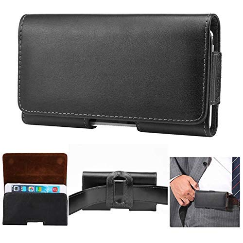 Waist Bag Fashion Fashion Mens Universal Horizontal Genuine Leather Waist Pack Belt Clip Bag for iPhone Xs max xs x 5s 8 Pouch Holster case - Leather Horizontal Pouch Genuine Universal