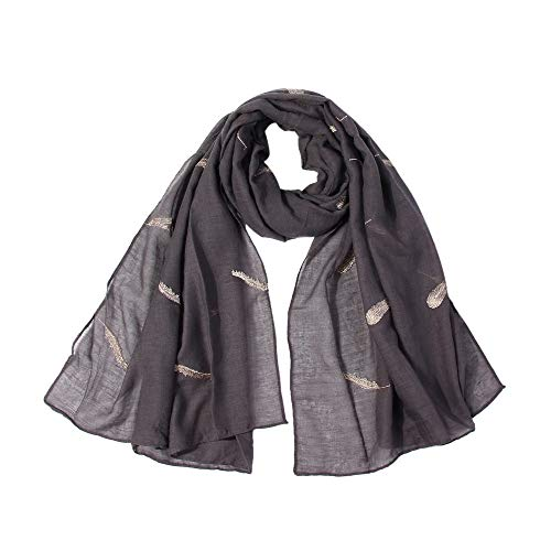 - MOSERIAN New!Women Feather Embroidered Scarf Soft Shawl Comfortable Long Scarf