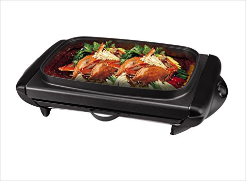 Tayama TG-821 Electric Griddle with Glass Cover, Black by TAYAMA (Image #1)