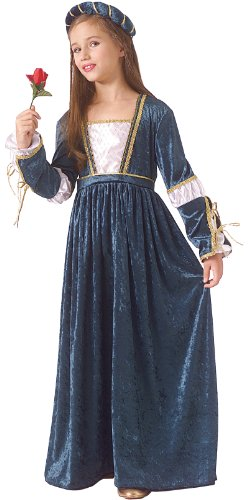 Rubie's Child Juliet Renaissance/Princess Costume, White, Medium -