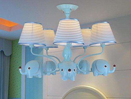 GH-Lámpara de techo hierro forjado, diseño de elefante ...