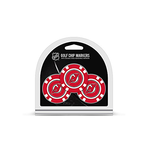 New Jersey Devils Official NHL 3 Pack Golf Ball Marker by Team Golf 146885 ()