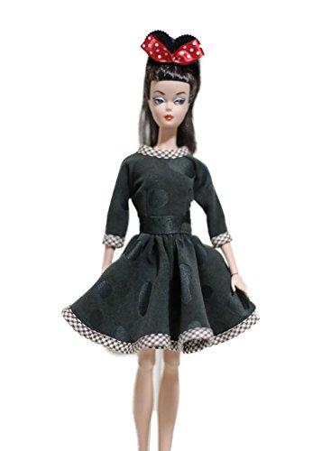 Handmade OOAK Barbie Doll Dress Silkstone Barbie Dress Green Midi Dress